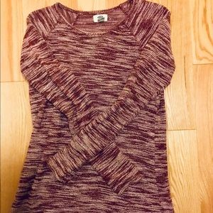 Old navy cotton burgundy sweater top